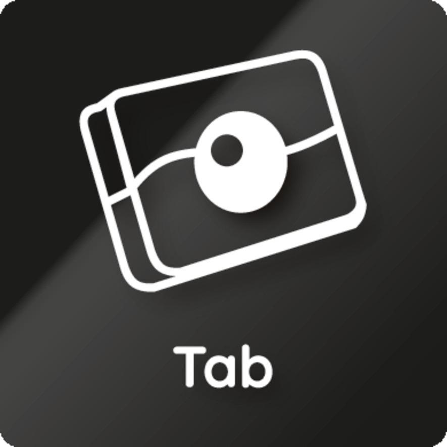 Per Tastendruck wird die Tab-Funktion ganz einfach aktiviert.