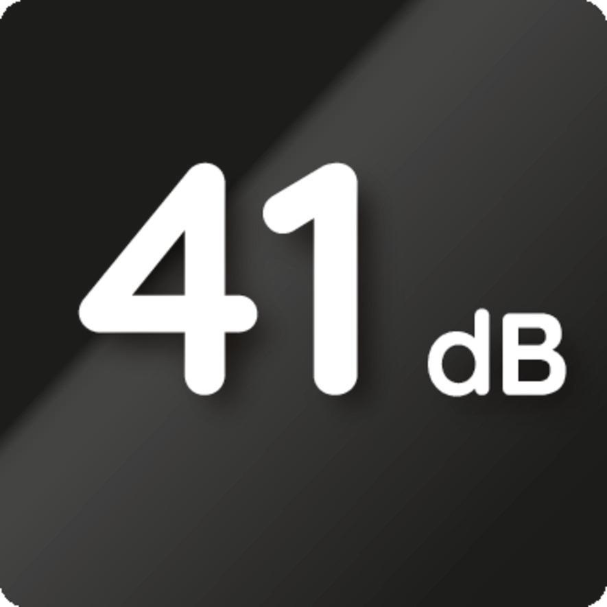 Geräuschlevel 41 dB (A)