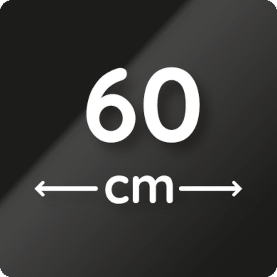Gerätebreite 60 cm.